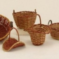 Colour rimmed baskets