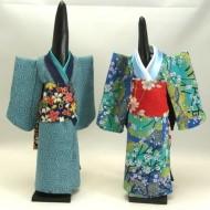 blue x 2 kimonos