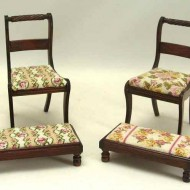 Chair and long stool