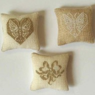 Butterfly and ribbon cushions