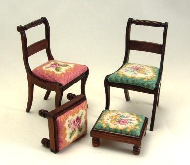 Regency Chair & Stool