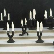 Blackened Candlesticks