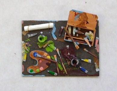 Paint pallette scene