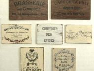 French wooden signs