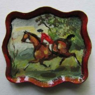 Painted plates, bowls & vases