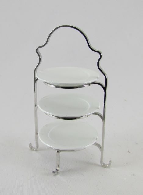 3 tier plate stand & 3 tier plate stand | Dolls House Miniatures