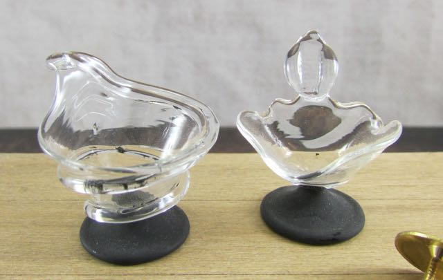 Karon Cunningham Miniatures 187 Blackened Vases
